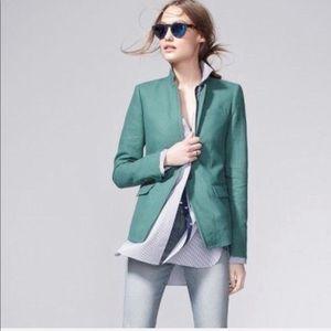 J. Crew linen regent blazer sage emerald green